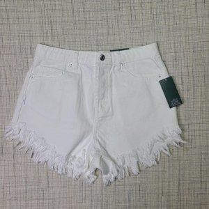 NWT Wild Fable High-Rise Frayed Hem Jean Shorts 4
